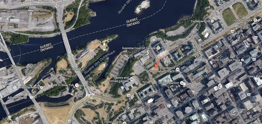 Google Maps screenshot of proposed memorial site.