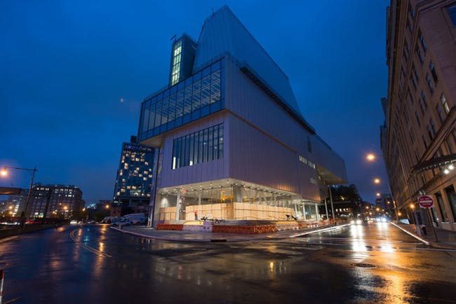 The new building at night. Credit: Timothy Schenck via the Whitney Museum of American Art