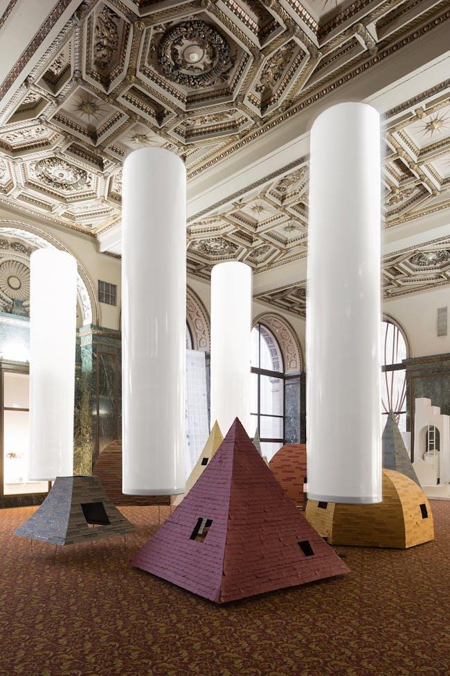 Floating Columns, Chicago Architecture Biennial, 2015. Photo credit: David Schalliol.
