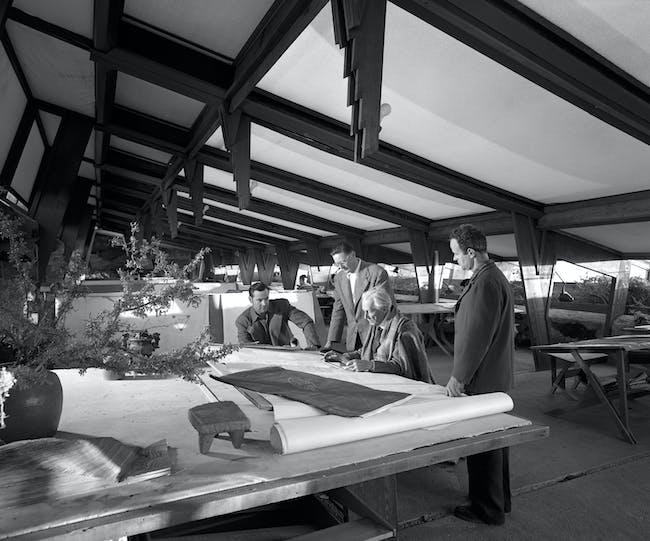 Frank Lloyd Wright, Taliesin West. Scottsdale, Arizona, 1950. Photo: Ezra Stoller, Esto.