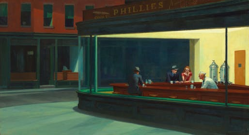 Nighthawks by Edward Hopper, 1942. Via Wikipedia