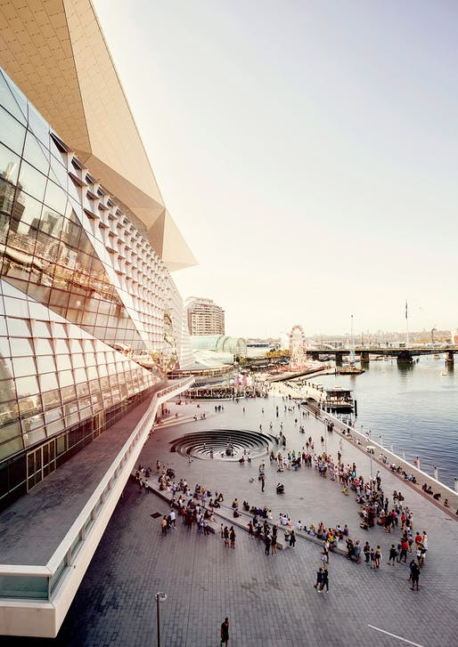 Darling Harbour Transformation by HASSELL/HASSELL + Populous (NSW). Photo: Brett Boardman.
