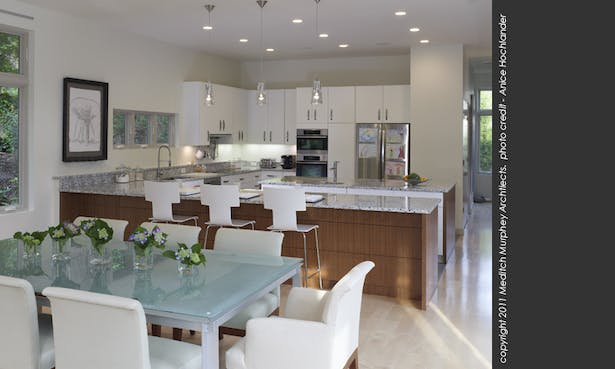 An open floor plan creates wide open interior spaces, opportunities for daylight and natural ventilation. It also helps keep construction costs down.