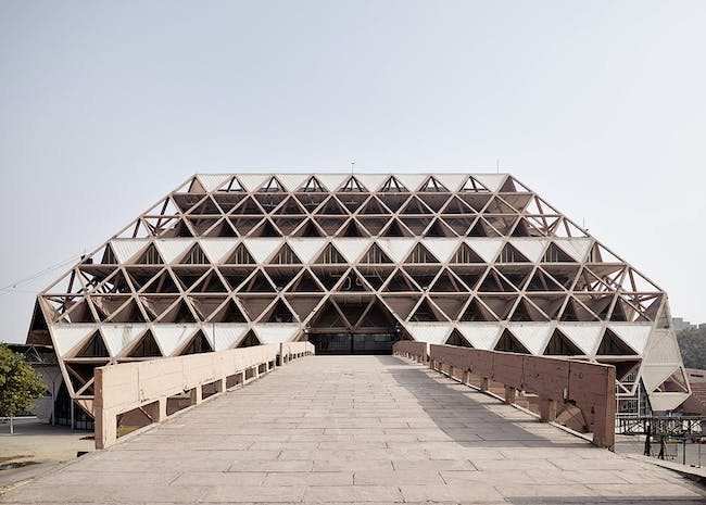 Post-Independence Architecture in Delhi, India. The Hall of Nations, a complex of exhibition halls built for the 1972 International Trade Fair, was demolished in April 2017. Photo: Ariel Huber, Lausanne