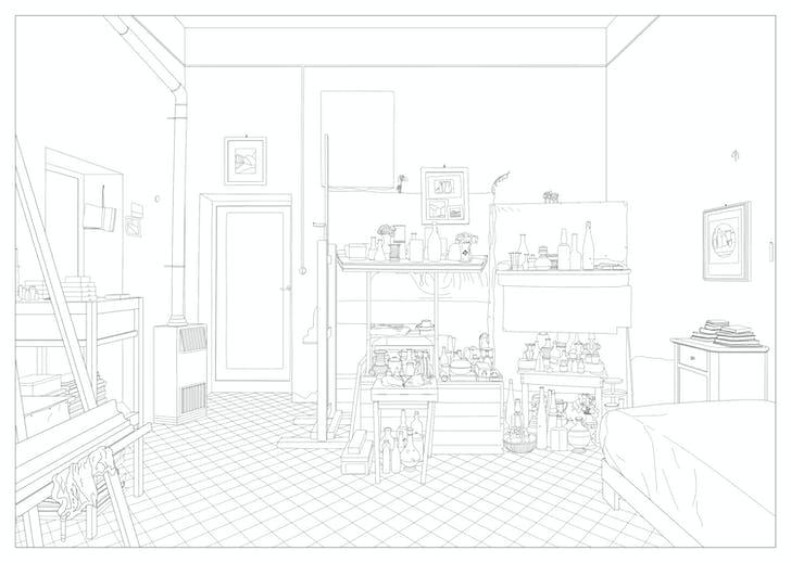 Giorgio Morandi's room. Credit: Dogma