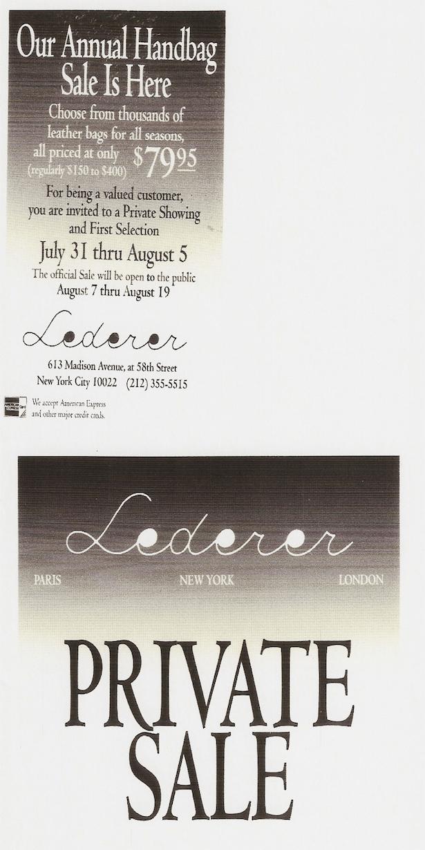 Posatcard designed for Lederer