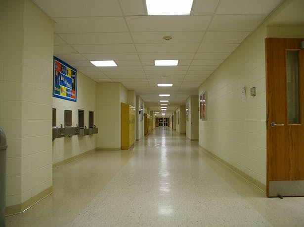 INTERIOR VIEW OF TYPICAL CORRIDOR