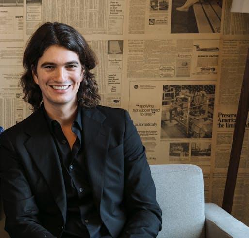 Adam Neumann, head of WeWork. Image: rew-online.com.