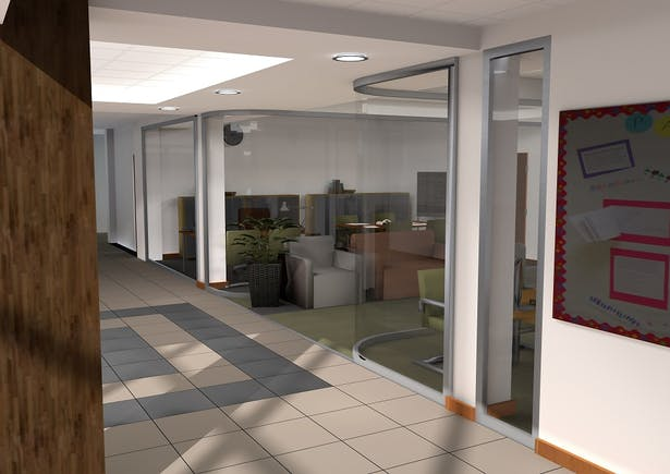 New view of offices