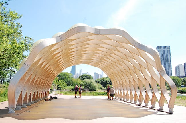 Nature Boardwalk structure in the Zoo by Studio Gang by davvid
