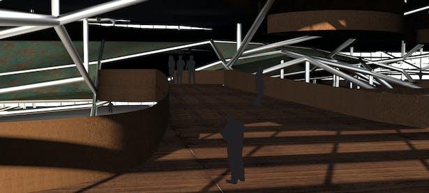 Interior Render of ramp