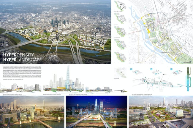 Stoss + SHoP, Boston, MA: 'HyperDensity/HyperLandscape'. Image via Dallas Connected City Design Challenge.