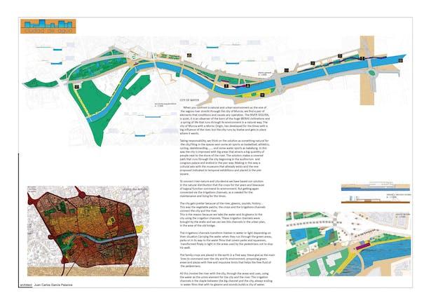 "Celebration of cities. ""City of wáter"" development of Segura rivershore in Murcia"