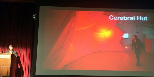 Guvenc Ozel's presentation. Photo by Anthony Morey.