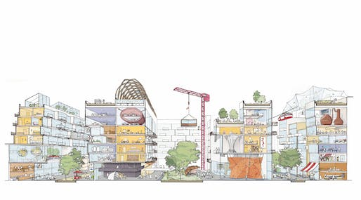 Mixed-Use Vision. Image courtesy of Sidewalk Labs.