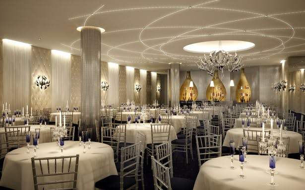 view of banquet room