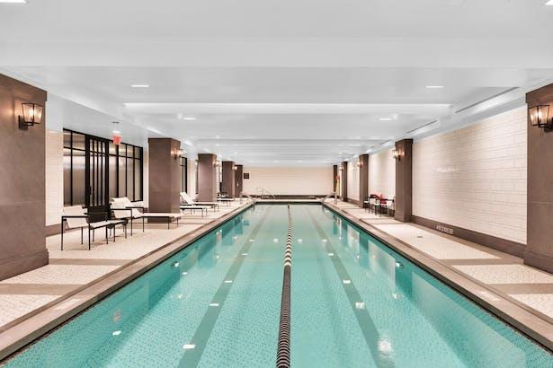 The underground 60 foot lap Pool