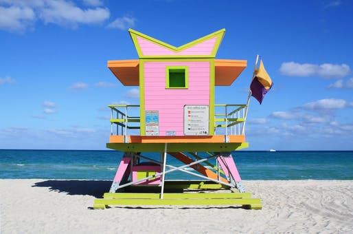 Miami Beach Lifeguard Towers Image © William Lane Architects