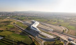 Zaha Hadid Architects unveils latest photos of serpentine Napoli Afragola railway station