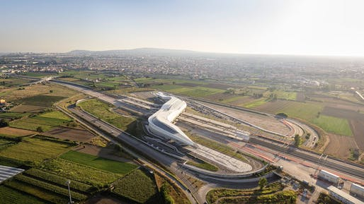 Napoli Afragola high-speed railway station by Zaha Hadid Architects. Photo © Hufton + Crow.