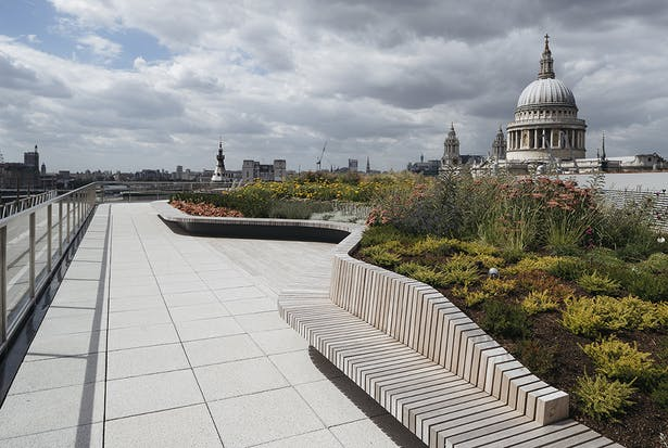 View of St Pauls from the new roof terrace
