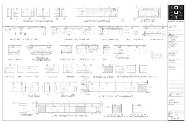 Interior Elevations- My sample drafting