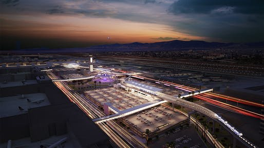 Rendering of the proposed Automated People Mover system at Los Angeles International Airport. Photo: Business Wire.