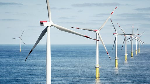Walney Extension offshore wind farm, located in the Irish Sea. Image: Ørsted.