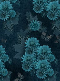 The dark garden - Wallpaper pattern design