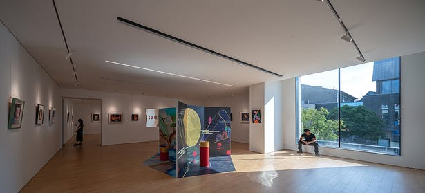 The Exhibition Hall on the West Side of the Second Floor,photo: Wu Qingshan