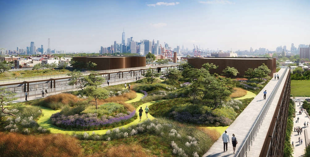 Norman foster office Headquarters Apple Via Visualhouse New York Dezeen New Renderings Of Norman Fosters Red Hook Office Complex Reveal