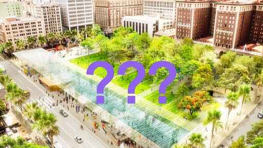 Plans for the much-touted Agence Ter-led repositioning of L.A.'s Pershing Square have changed.Image courtesy of Agence Ter.