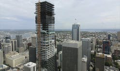 Seattle's new Rainier Square Tower topped out at 850 feet