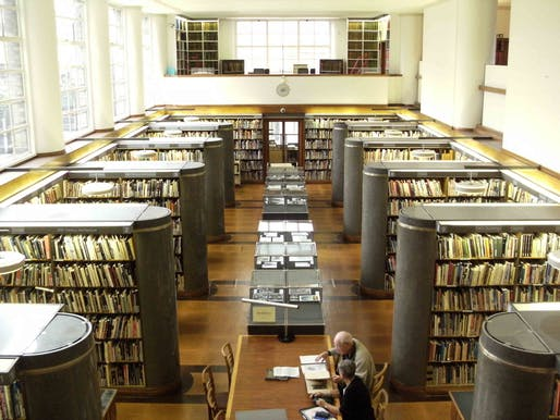 "A view of the reading room at the RIBA headquarters in London. Image courtesy of <a href=""https://en.wikipedia.org/wiki/File:RIBA_LibraryInterior.jpg""> Photo via Wikimedia user SupportArchitecture</a>"
