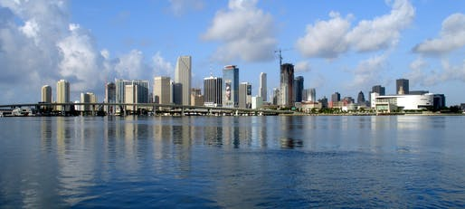 Miami and the rest of Florida are particularly vulnerable to rising sea levels in part because of their low altitude. Credit: Wikipedia