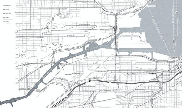 Duwamish Crossings: Transportion Site Map (Wittman Estes)