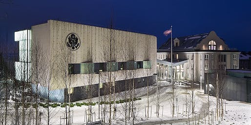 United States Embassy in Helsinki, Finland. Photo: Courtesy Moore Ruble Yudell Architects & Planners