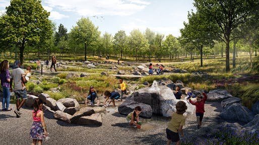 Rendering of the Spring at the Forest Park Nature Playscape. Image courtesy of Forest Park Forever.