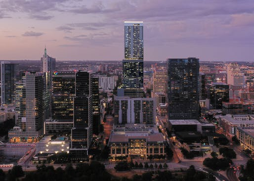 The mixed-use 6 x Guadelupe tower at 400 W 6th Street is only one of many new towers coming, or potentially coming, to central Austin, Texas. Image: Gensler/Lincoln Property Co./Kairoi Residential.