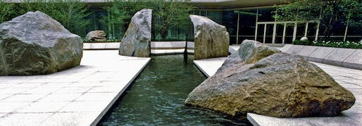 Elyn Zimmerman's Marabar sculpture is threatened by a proposed expansion to the National Geographic headquarters in Washington, D.C. Image courtesy of Elyn Zimmerman / The Cultural Landscape Foundation.