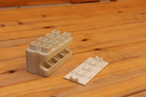Brick prototype. Photo: Kite Bricks.