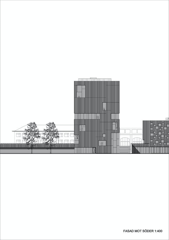 Elevation south (Illustration: Henning Larsen Architects)