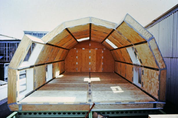 clip together insulated structural panels that form full vaults and half vaults.