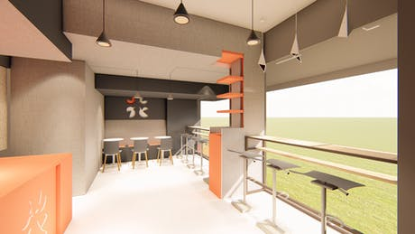 Test rendering of a snack bar in East Village