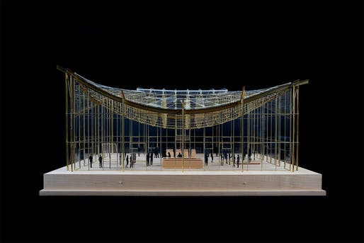 Model of the Renzo Piano-designed California Academy of Sciences Piazza Glass Roof. Image courtesy of Gemmiti Model Art.