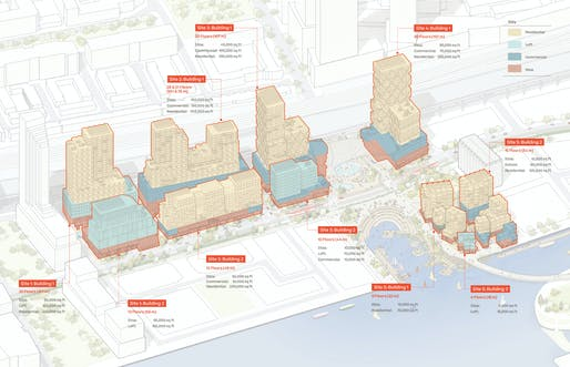 Site plan for the Sidewalk Labs Quayside development. Image courtesy of Picture Plane for Heatherwick Studio and Sidewalk Labs