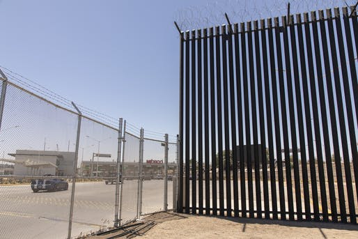 View of the border wall near Calexico, California. Image courtesy of Department of Customs and Border Patrol.