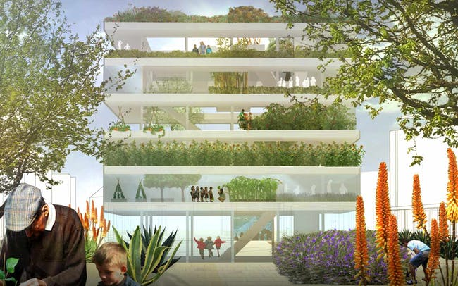 Royal Adelaide Hospital site competition - Second prize: Bonhag and de Rosa with Taylor Cullity Lethlean