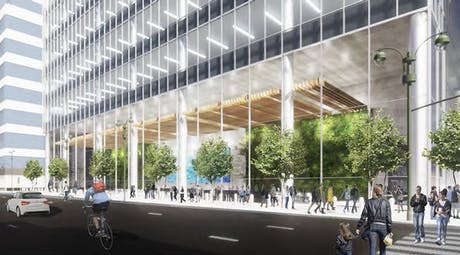 Completed 100% DD submission for below-grade and plaza-related documentation with joint firm Foster + Partners for JPMorgan Chase & Co's global headquarters