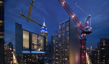 World's tallest modular hotel, rising in NYC this fall, aims to establish prefabrication on a grand scale